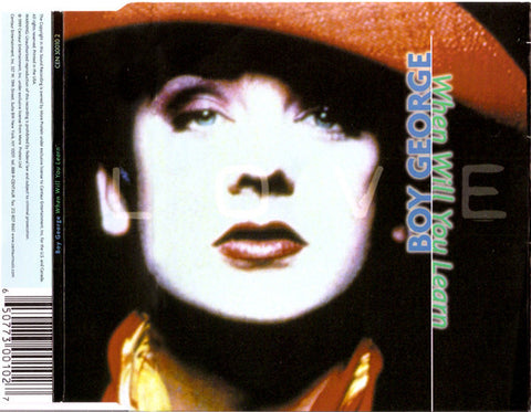 Boy George ‎- When Will You Learn - Used CD Single