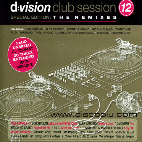 D:VISION Club Sessions 12 - Special Edition: The Remixes - IMPORT 2CD Set