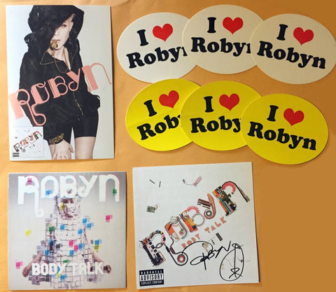 Robyn - Lot of promos and signed CD cover