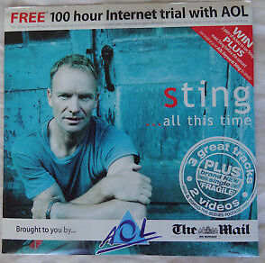 Sting ...all this time 4 track CD sampler w/ rare LIVE  (The Mail AOL) Used Single