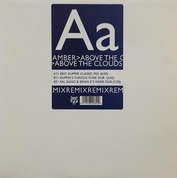 "Amber - Above The Clouds Promo REMIX 12"" LP Vinyl"