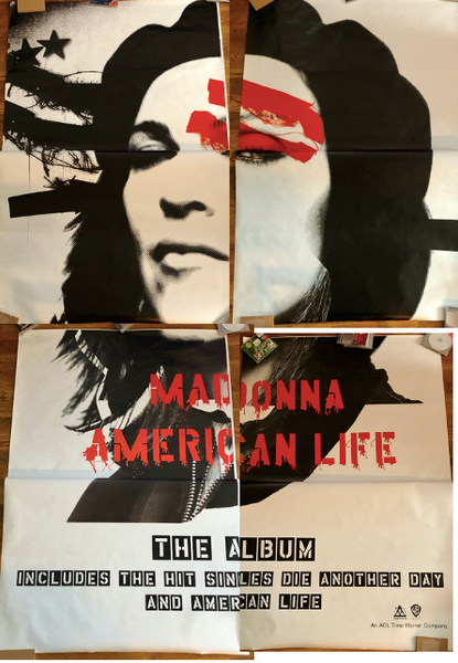 Madonna - 2003 - American Life - Giant 4 panel Promotional Subway Print 78X88