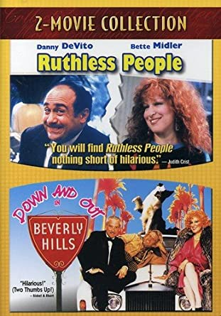 Bette Midler: Ruthless People / Down And Out in Beverly Hills (Double feature DVD) New