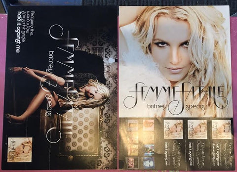 Britney Spears official FEMME FATALE Promotional flat