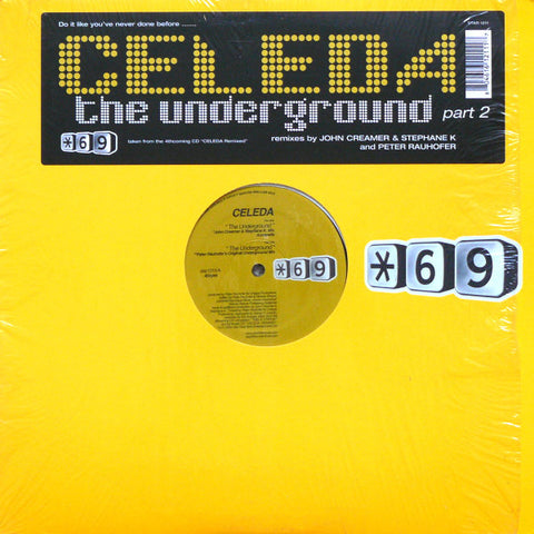 "Celeda - The Underground 12"" LP Vinyl (used Like new)"