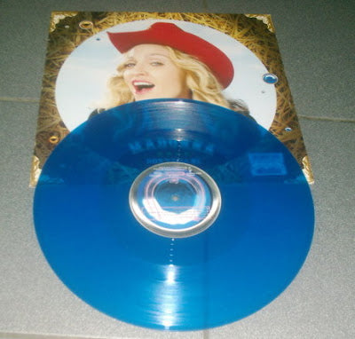 Madonna -  Don't Tell Me Blue Vinyl UK LP 12""