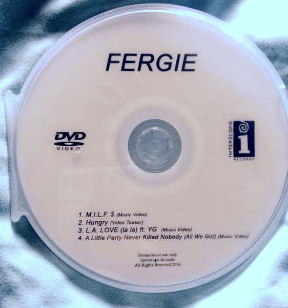 Fergie - Music Video DVD, 4 Videos (M.I.L.F. $, L.A. Love, + More) - DVD