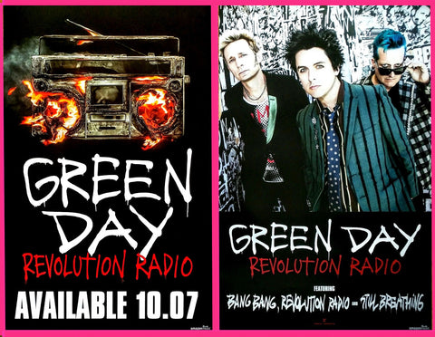 "Green Day Promo Poster ""Revolution Radio"""