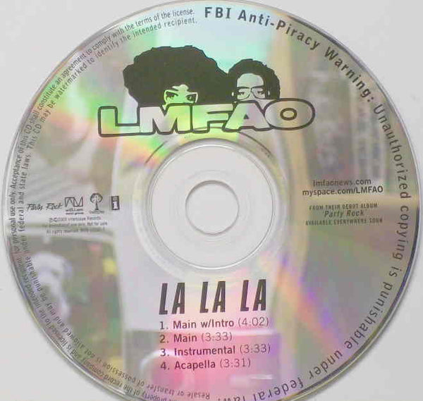 LMFAO - La La La (Promo CD single)