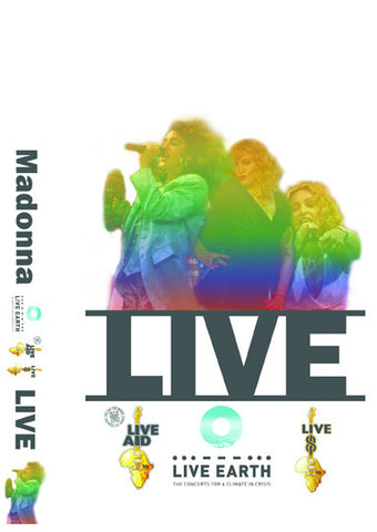 MADONNA LIVE AID, LIVE 8. LIVE EARTH, ROCK AND ROLL HALL OF FAME DVD