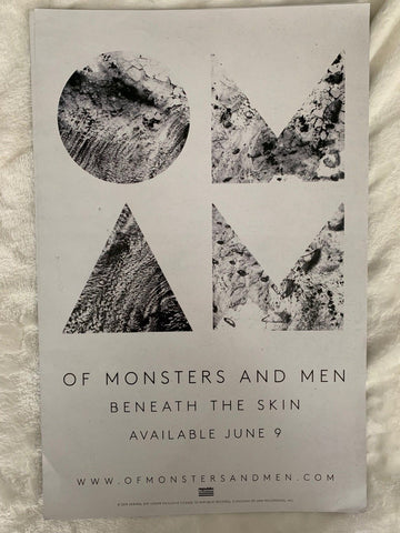 Of Monsters and Men - promo poster  11x17