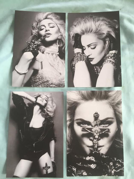 MADONNA postcards set of 4 (2012)  4x6