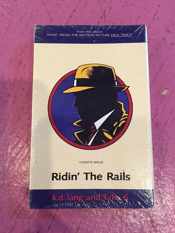 "Dick Tracy - Cassette single ""Ridin' The Rails''  KD Lang - New"