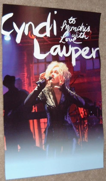 Cyndi Lauper - To Memphis with Love Poster