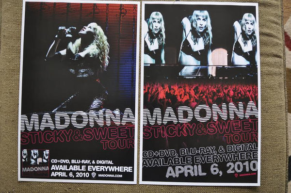 Madonna  -Sticky and Sweet Promotional Poster 11x17