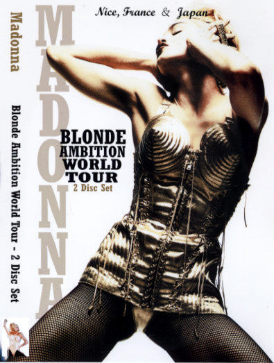 MADONNA BLonde Ambition JAPAN & FRANCE Dbl DVD