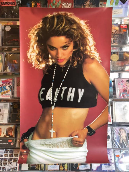 "MADONNA ""Healthy"" 3ft Vinyl banner  1985 PLAYBOY"
