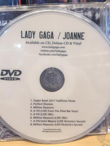 Lady GaGa - DVD (Joanne Promotions) Super Bowl.