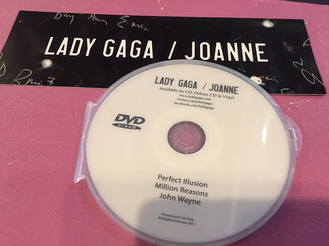 Lady GAGA - DVD + Joanne Promo Sticker