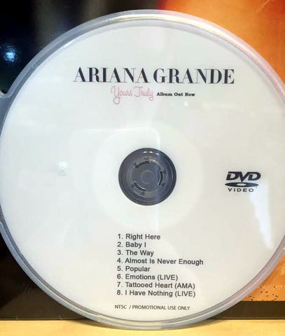 Ariana Grande DVD music videos and LIVE