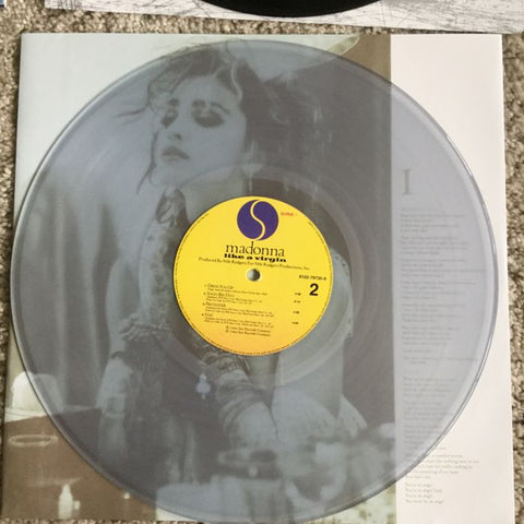 Madonna -'Like A Virgin' (Clear Vinyl Pressing) (Clear Vinyl, UK Import) LP