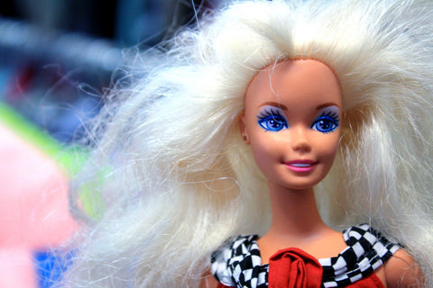 Barbie doll with tangled hair