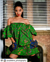 Load image into Gallery viewer, Oyin off-shoulder dress