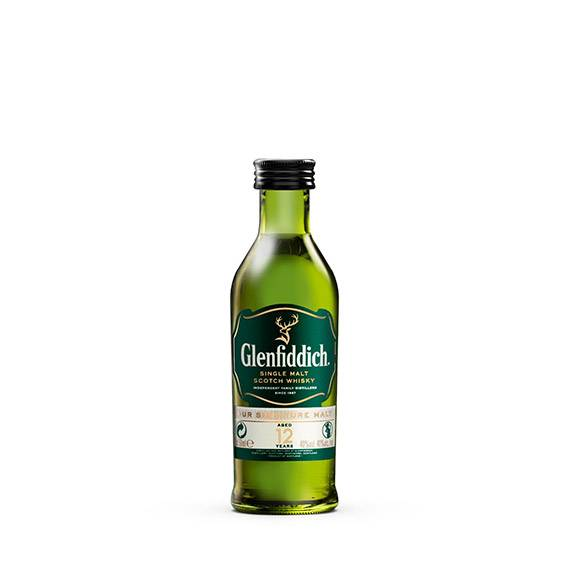 5cl Glenfiddich 12 Year Old-Miniatures-Fountainhall Wines