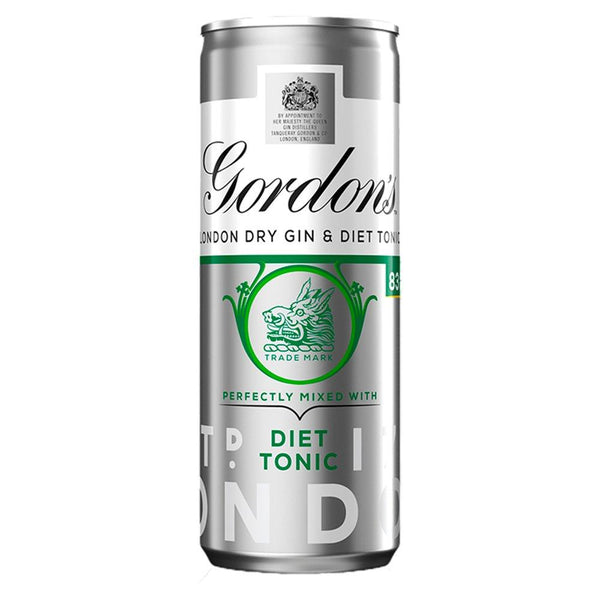 Gordon's Gin & Diet Tonic 250ml-RTD's (Ready To Drink)-Fountainhall Wines