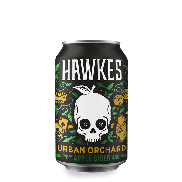 Hawkes Urban Orchard - Apple Cider 330ml Can-Cider-Fountainhall Wines