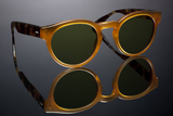MATTE GOLDEN HONEY TORASEL FRAME/ BOTTLE GREEN LENS