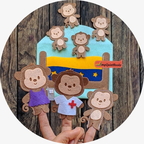 Five Little Monkey finger puppets