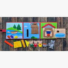 Load image into Gallery viewer, Three Little Pigs playset