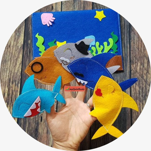 Baby Shark finger puppets