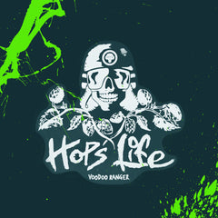Captain Dynamite Hops Life Clear Sticker