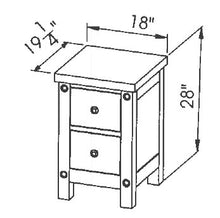 "Load image into Gallery viewer, Chantry 18"" Drawer Nightstand"