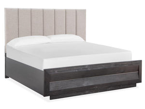 Wentworth Village Complete Upholstered Bed with Wood/Metal FB