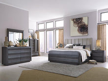 Load image into Gallery viewer, Wentworth Village Complete Upholstered Bed with Wood/Metal FB