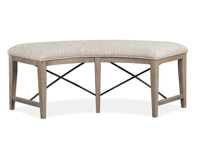 Paxton Place D4805-67: Curved Bench w/Upholstered Seat