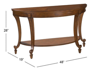 Aidan T1052-75: Demilune Sofa Table
