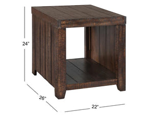 Caitlyn T2528-03: Rectangular End Table