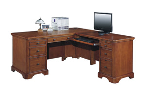 "Topaz Cinnamon 66"" Desk w/Return D2-T266R-O"