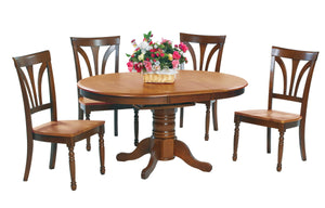 "Country 57"" Oval Butterfly Leaf Table"