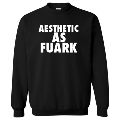 Gamma Labs Aesthetic Crewneck - Wht on Blk