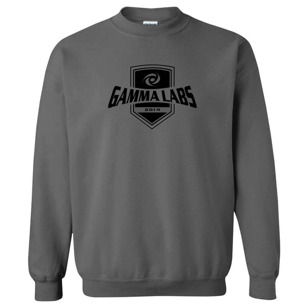 Gamma Labs Crest Crewneck - Blk on Chrcl