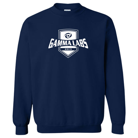 Gamma Labs Crest Crewneck - Wht on Nvy
