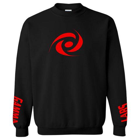Gamma Labs Icon Crewneck - Red on Blk