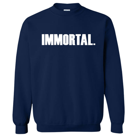 Gamma Labs Immortal Crewneck - Wht on Nvy