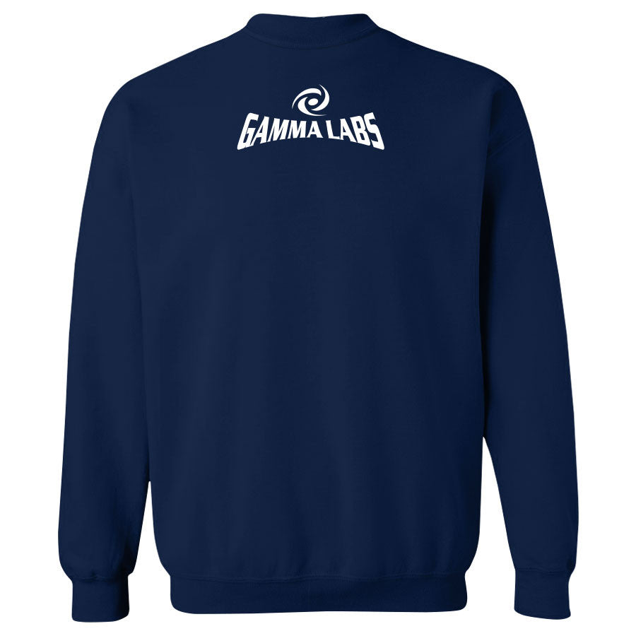Gamma Labs LMA Crewneck - Wht on Nvy