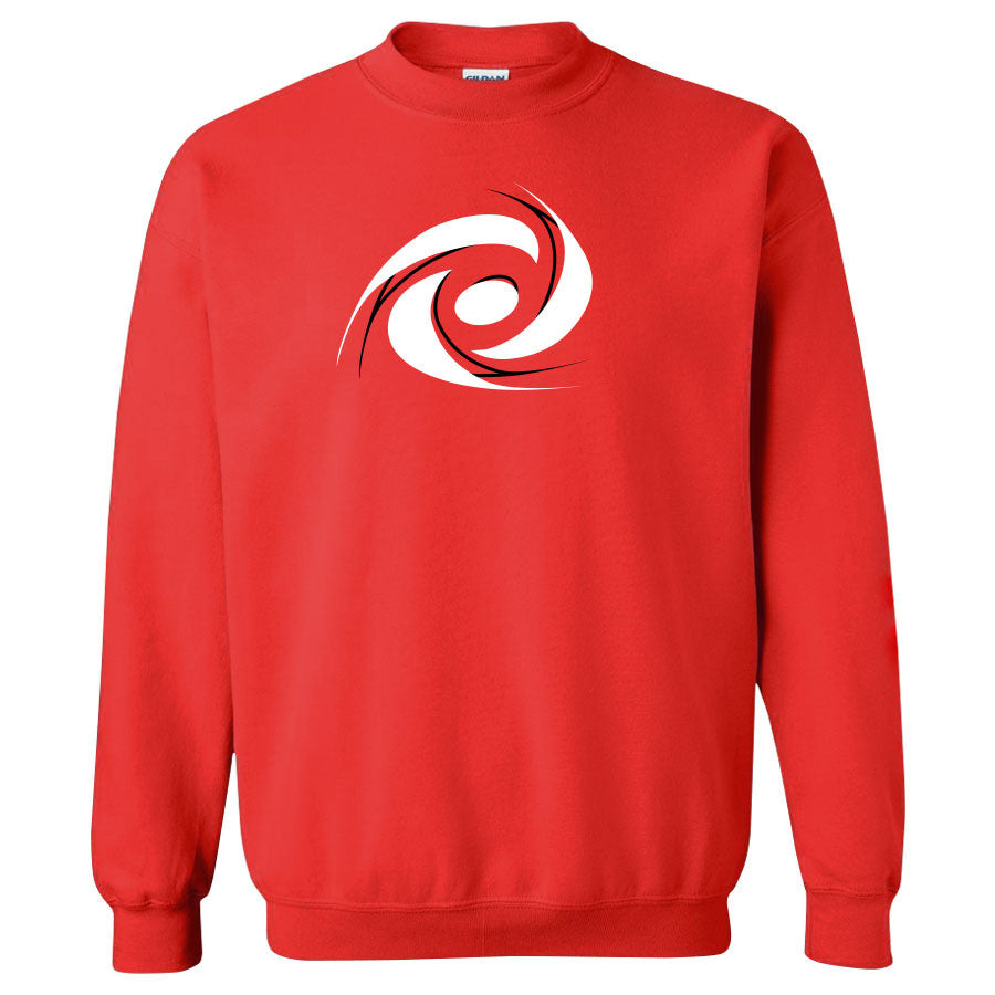Gamma Labs Vortex Crewneck - BlkWht on Red
